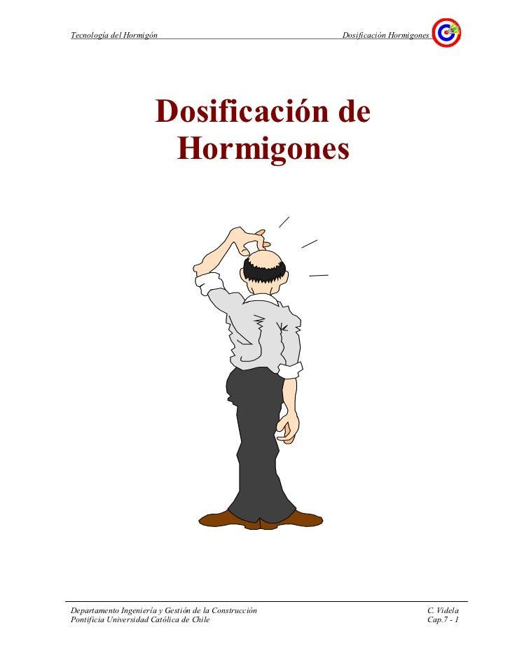Tecnología del Hormigón                                Dosificación Hormigones                       Dosificación de      ...