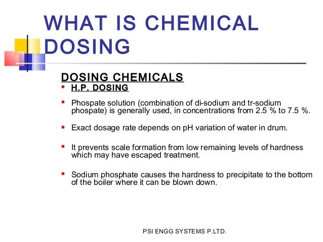 chilled water chemical dosing system pdf