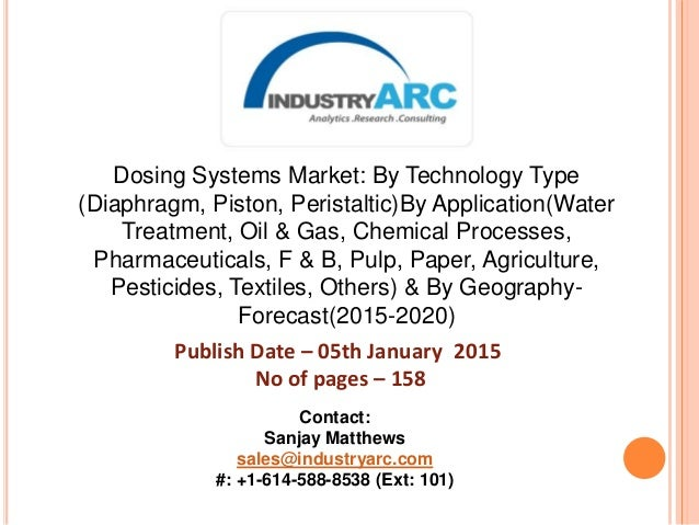 Dosing Systems Market: By Technology Type (Diaphragm, Piston, Peristaltic)By Application(Water Treatment, Oil & Gas, Chemi...