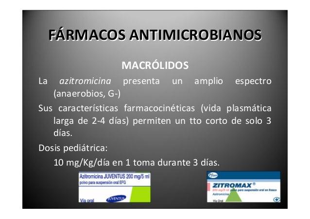 FÁRMACOSANTIMICROBIANOS                        METRONIDAZOLSu espectro incluye especies anaerobias estrictas,    us...
