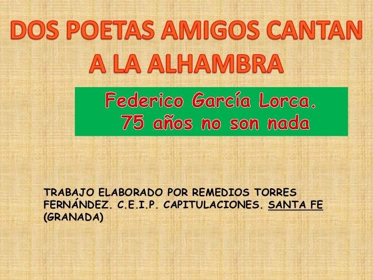 TRABAJO ELABORADO POR REMEDIOS TORRESFERNÁNDEZ. C.E.I.P. CAPITULACIONES. SANTA FE(GRANADA)