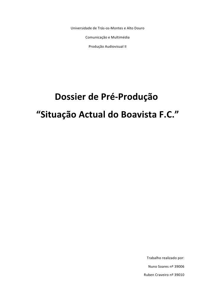 Dossier de Pré produção