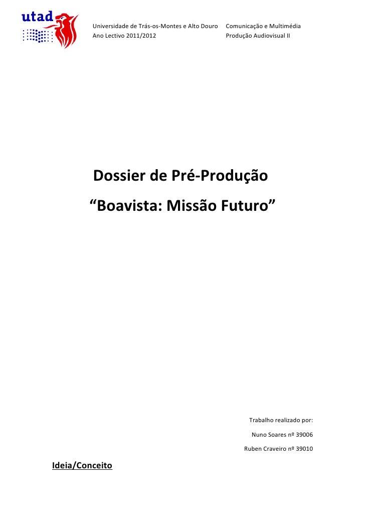 Dossie de Pré-Produção (Alterado)