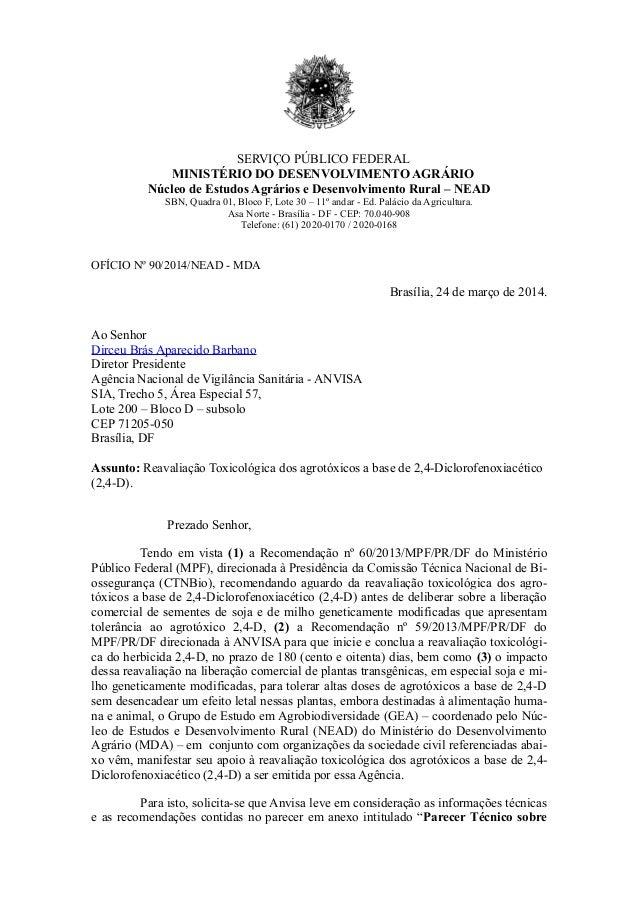 SERVIÇO PÚBLICO FEDERAL MINISTÉRIO DO DESENVOLVIMENTO AGRÁRIO Núcleo de Estudos Agrários e Desenvolvimento Rural – NEAD SB...