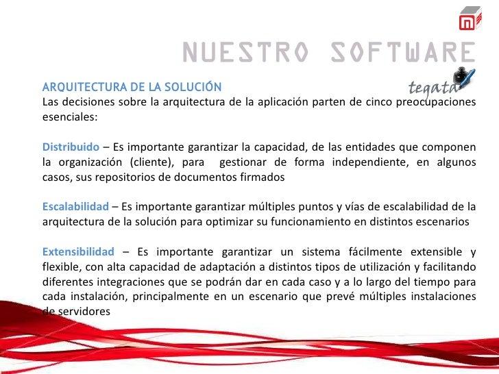 ARQUITECTURA DE LA SOLUCIÓNLas decisiones sobre la arquitectura de la aplicación parten de cinco preocupacionesesenciales:...