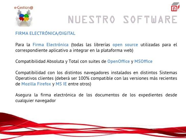 FIRMA ELECTRÓNICA/DIGITALPara la Firma Electrónica (todas las librerías open source utilizadas para elcorrespondiente apli...
