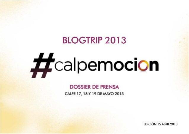 Dossier blogtrip-Calpe #calpemocion