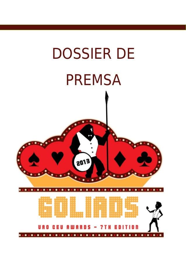 DOSSIER DE PREMSA