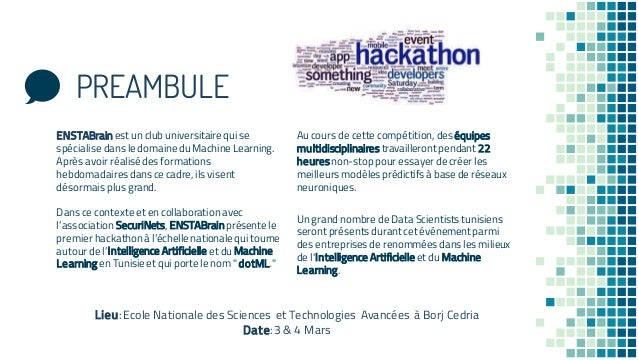 dotML:First big Machine Learning event in Tunisia Slide 2