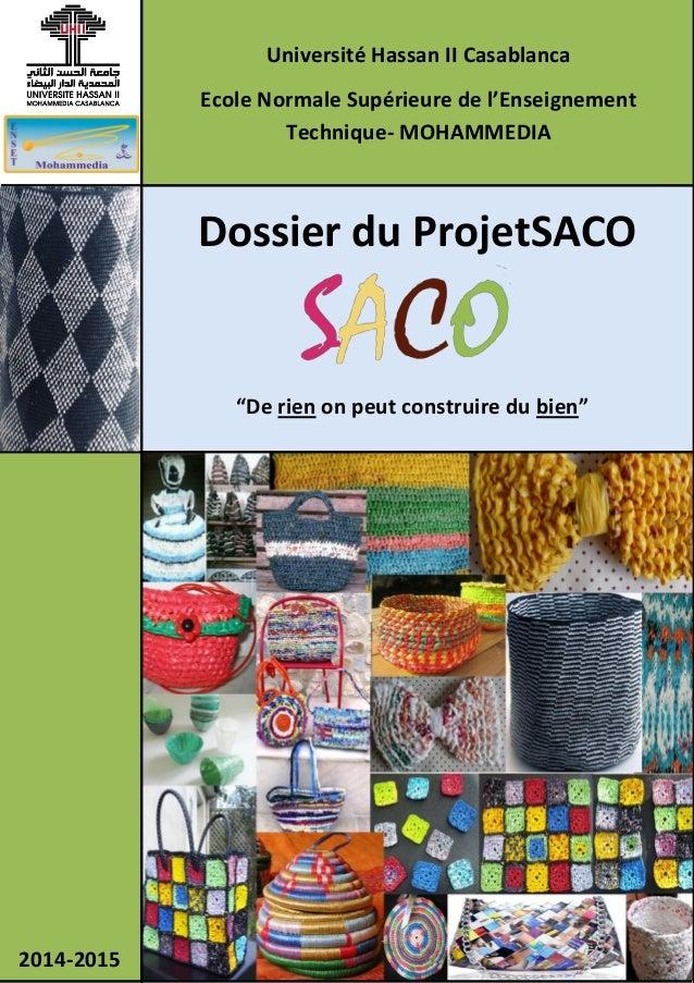 """Dossier du ProjetSACO """"De rien on peut construire du bien"""" Université Hassan II Casablanca Ecole Normale Supérieure de l'E..."""