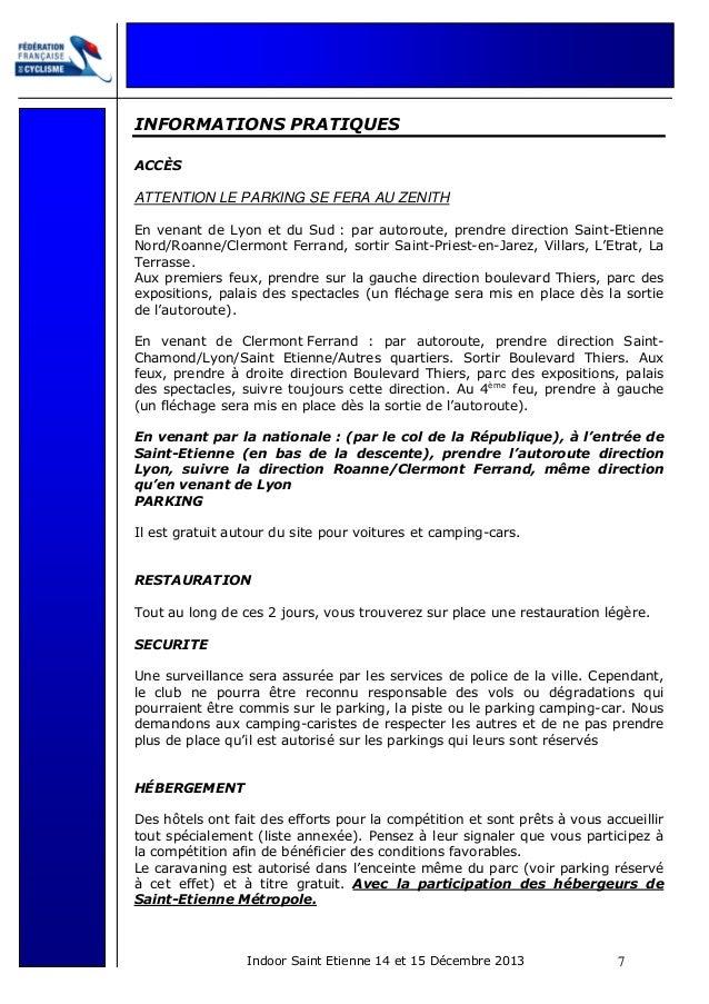 INFORMATIONS PRATIQUES ACCÈS  ATTENTION LE PARKING SE FERA AU ZENITH En venant de Lyon et du Sud : par autoroute, prendre ...