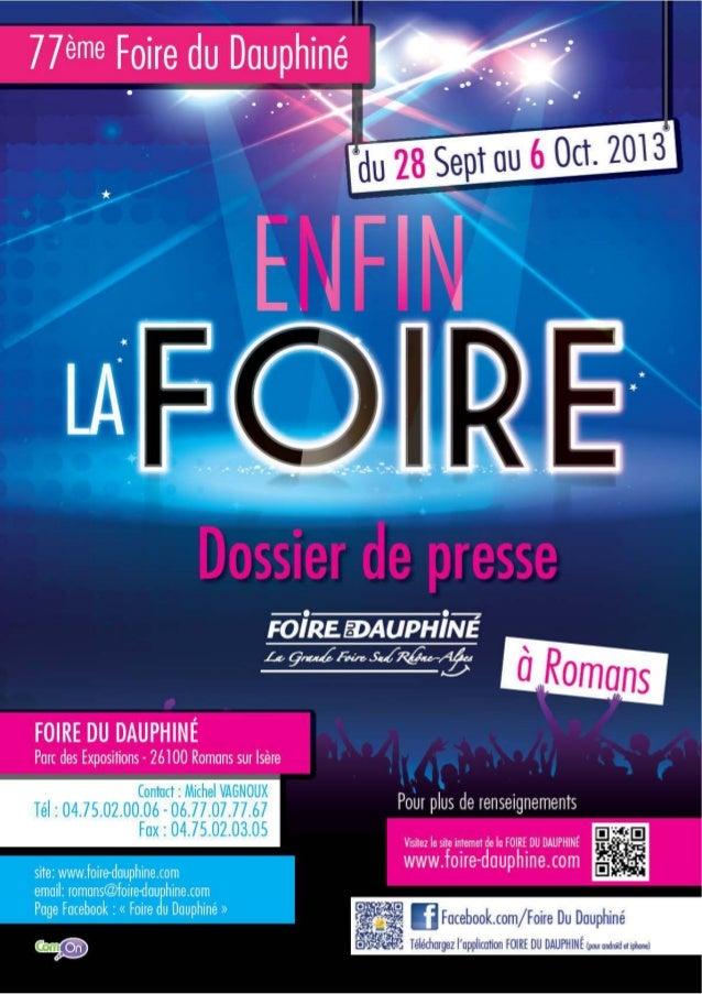 Dossier presse-2013-09-12 foire du dauphine