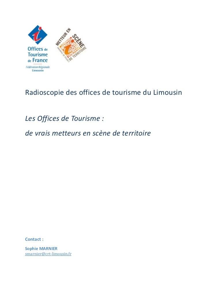 """Dossier argumentaire """"Office de tourisme metteur en scène de territoire en Limousin"""""""