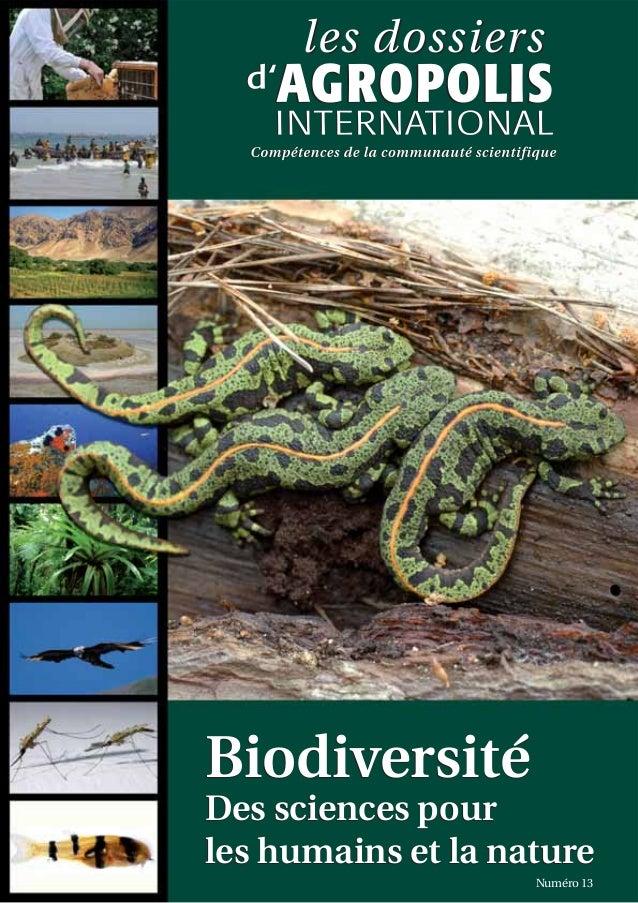 Biodiversité Des sciences pour les humains et la nature Numéro 13