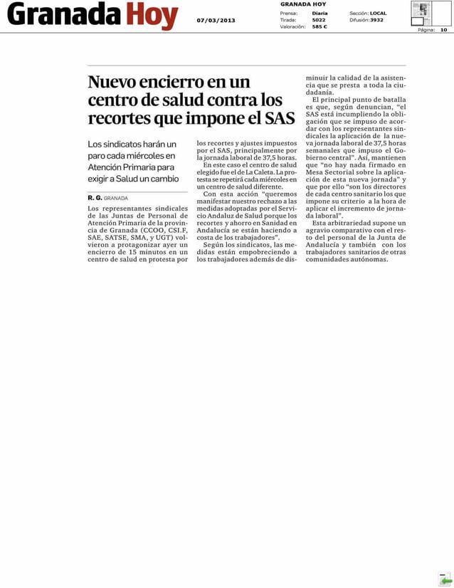 Comisiones Obreras CCOO   - La plantilla de Iberia amenaza con la huelga en Semana Santa     GRANADA HOY - pág:12 :: 07.03...