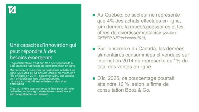 Une capacité d'innovation qui peut répondre à des besoins émergents  Au Québec, ce secteur ne représente que 4% des achat...