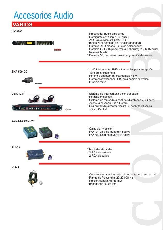 Dbx 1231: Dossier 2013 Audiovisuales Combo