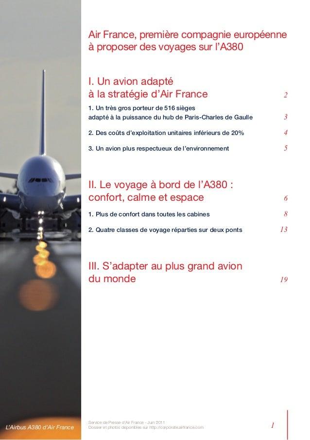 Air France, première compagnie européenne                             à proposer des voyages sur l'A380                   ...