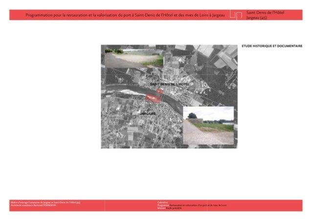 Réhabilitation et valorisation d'un port de Loire Slide 2
