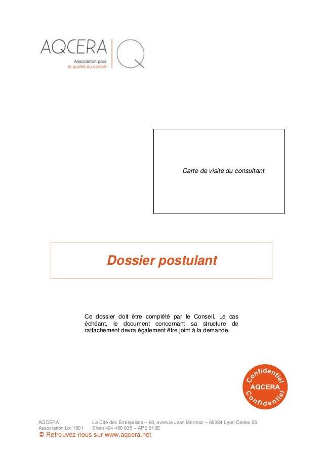 AQCERA La Cité des Entreprises – 60, avenue Jean Mermoz – 69384 Lyon Cedex 08 Association Loi 1901 Siren 404 488 835 – APE...