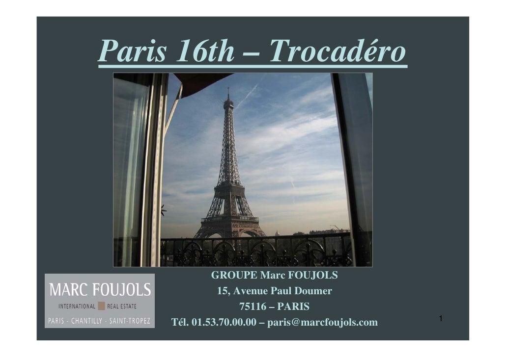 Real estate paris trocadero apartment for sale eiffel for 16th floor paul kelly