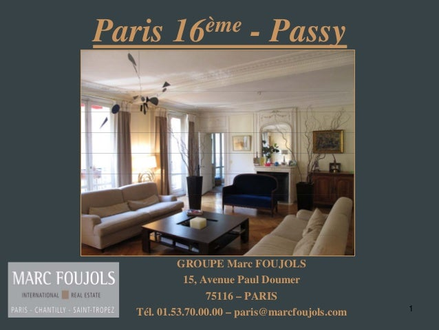 Vente Appartement Paris Passy Haussmannien