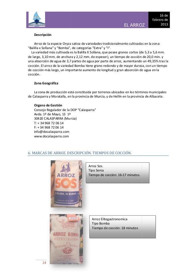 Dossier arroz - El tiempo en la senia tarragona ...