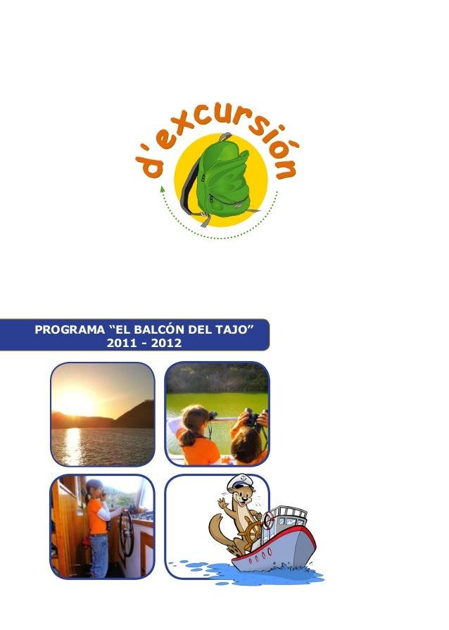 """PROGRAMA """"EL BALCÓN DEL TAJO""""  2011 - 2012"""