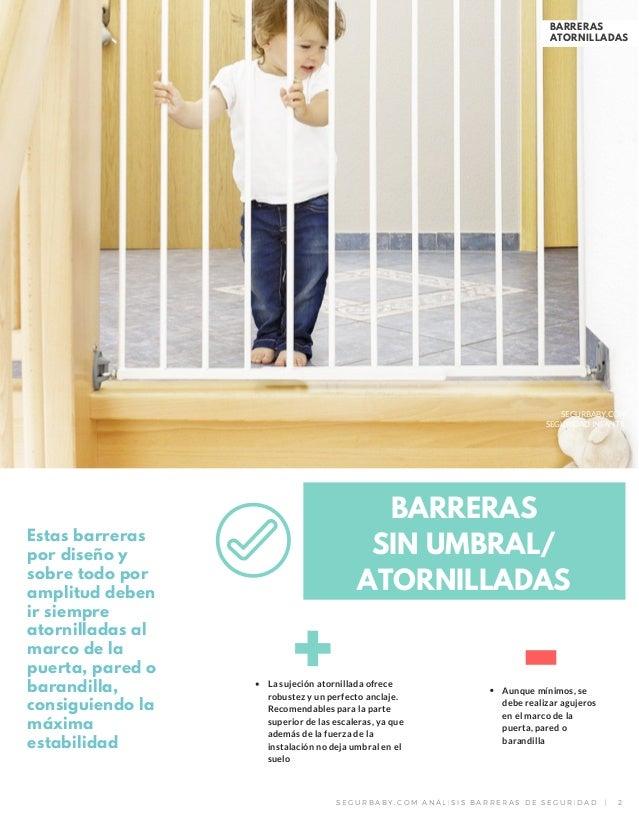 Dossier barreras de seguridad para puertas y escaleras - Barreras de seguridad para escaleras ...