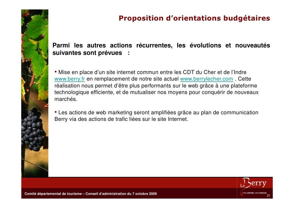Proposition d'orientations budgétaires                   Parmi les autres actions récurrentes, les évolutions et nouveauté...
