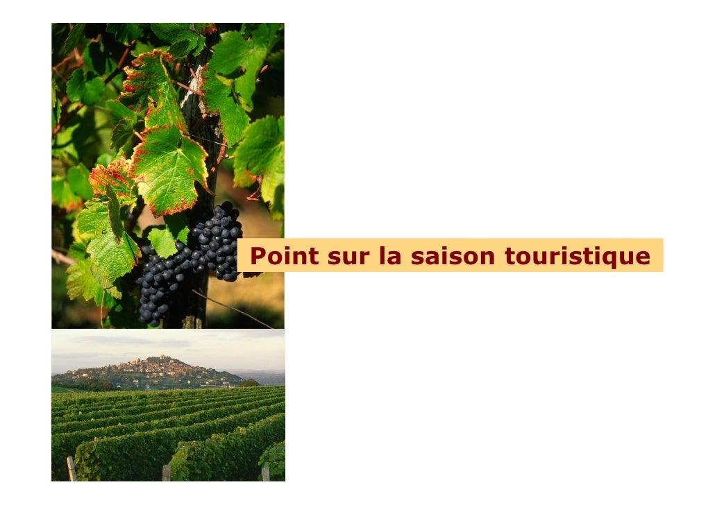Point sur la saison touristique