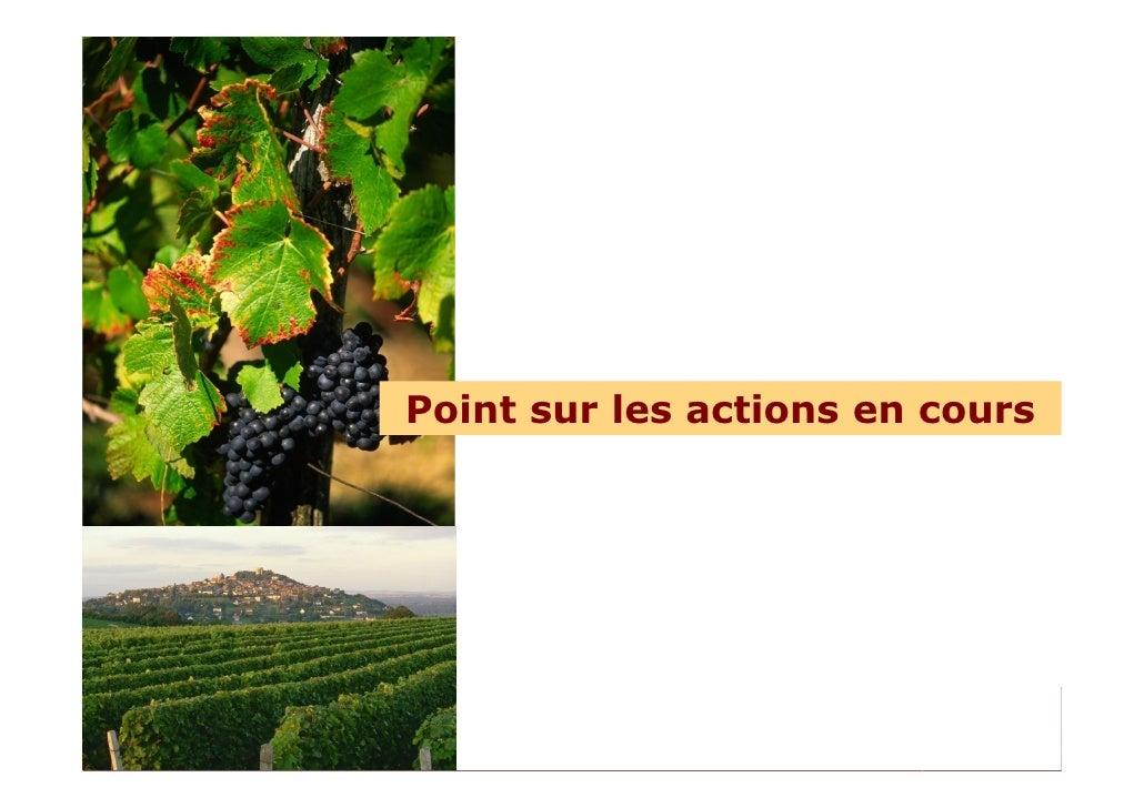 Point sur les actions en cours     Comité départemental de tourisme – Conseil d'administration du 7 octobre 2009