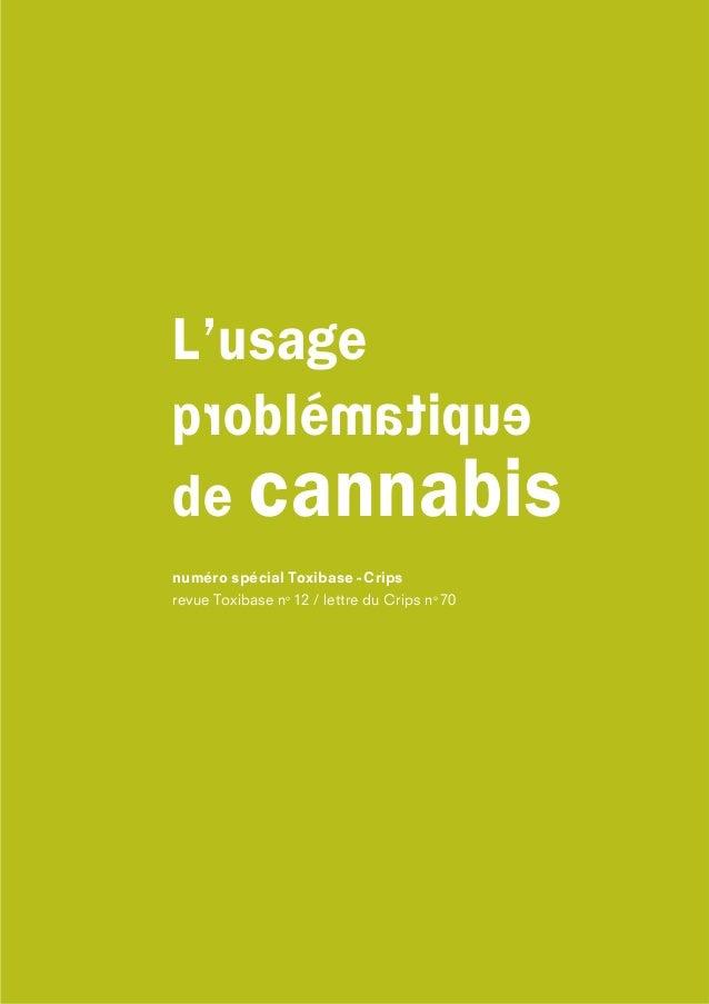 numéro spécial Toxibase - Crips revue Toxibase no 12 / lettre du Crips no 70 eupitaméldorq é L'usage de cannabis