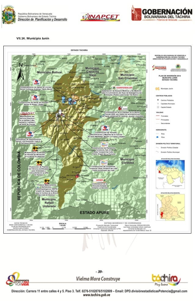 Dossier cartogrfico del estado tchira