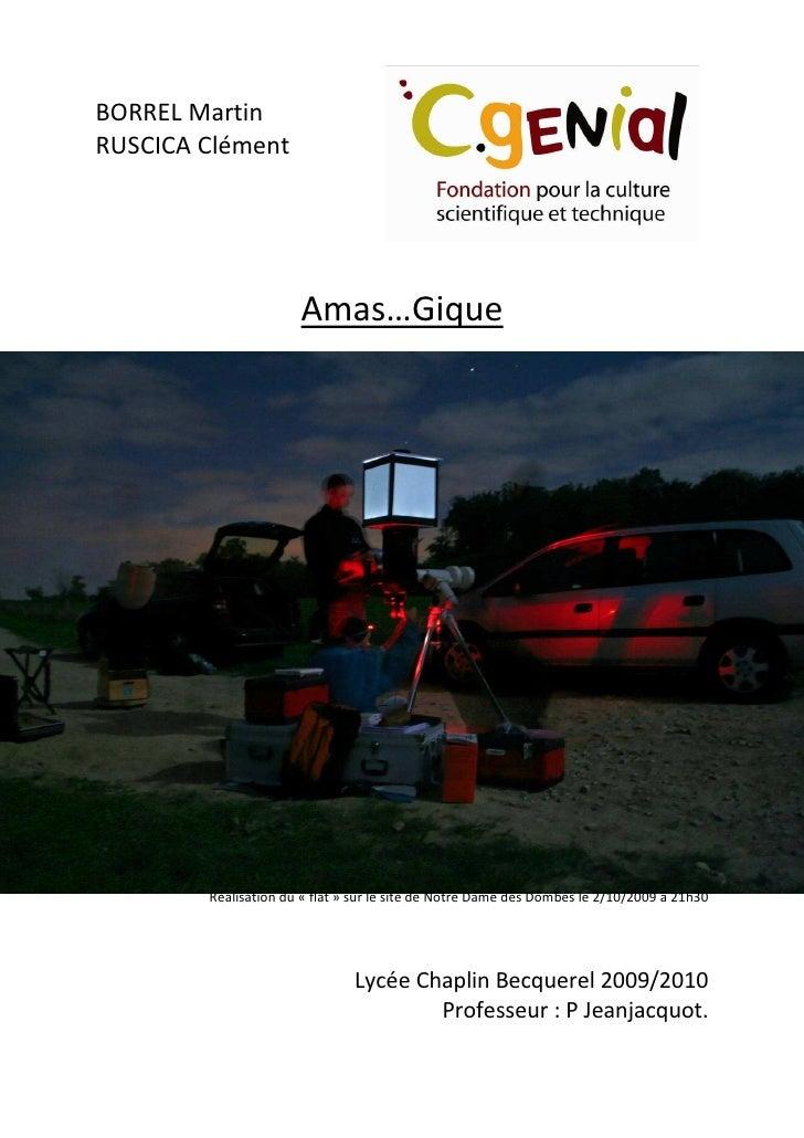 BORREL Martin RUSCICA Clément                           Amas…Gique             Réalisation du « flat » sur le site de Notr...
