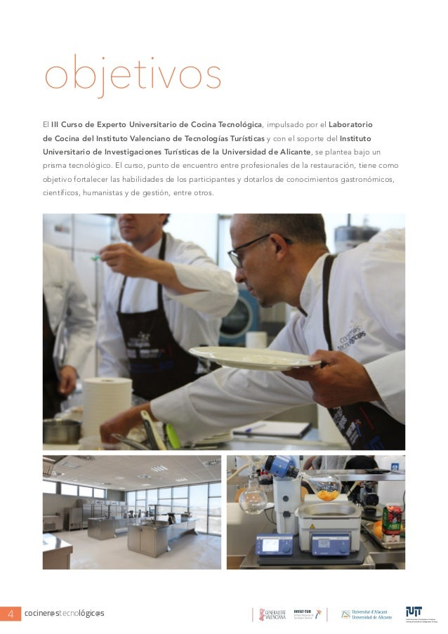 Iii curso de experto en cocina y tecnolog a cocineros for Cursos de cocina en alicante