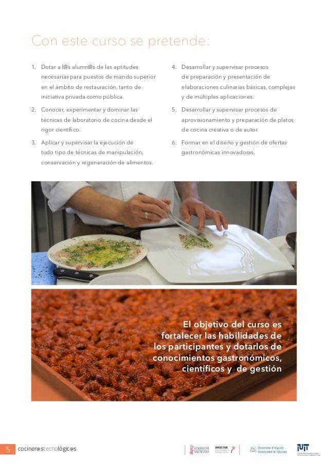 Iii curso de experto en cocina y tecnolog a cocineros - Cursos de cocina en ciudad real ...