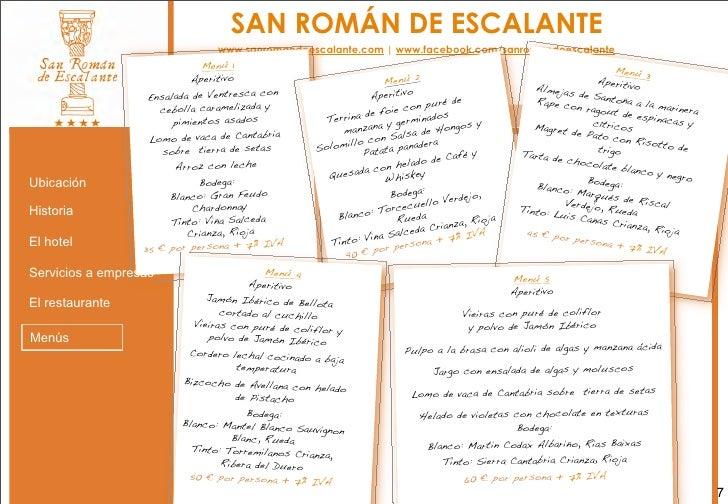 Presentaci n hotel san rom n de escalante for San roman de escalante restaurante