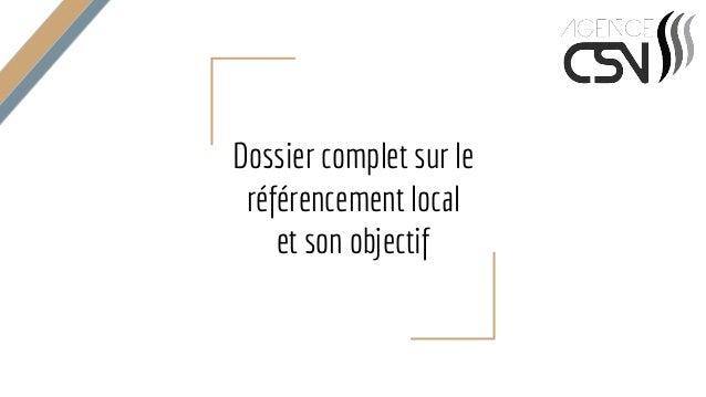 Dossier complet sur le référencement local et son objectif