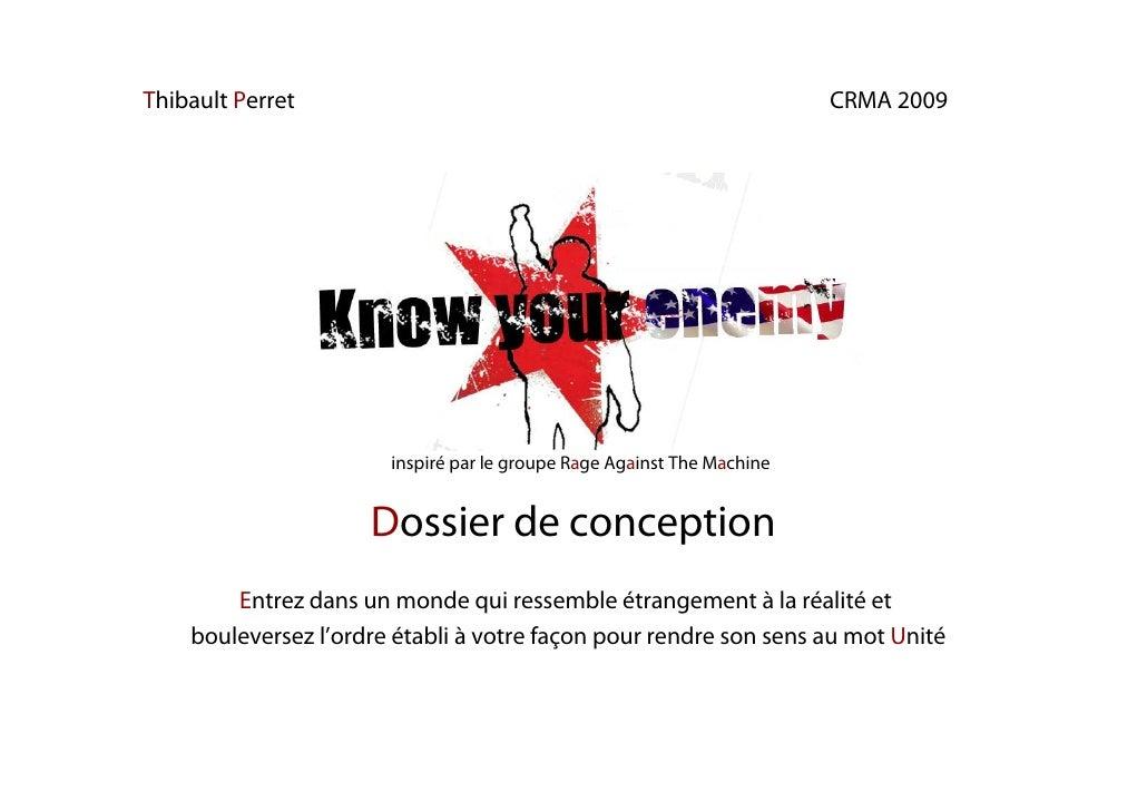 Thibault Perret                                                         CRMA 2009                            inspiré par l...