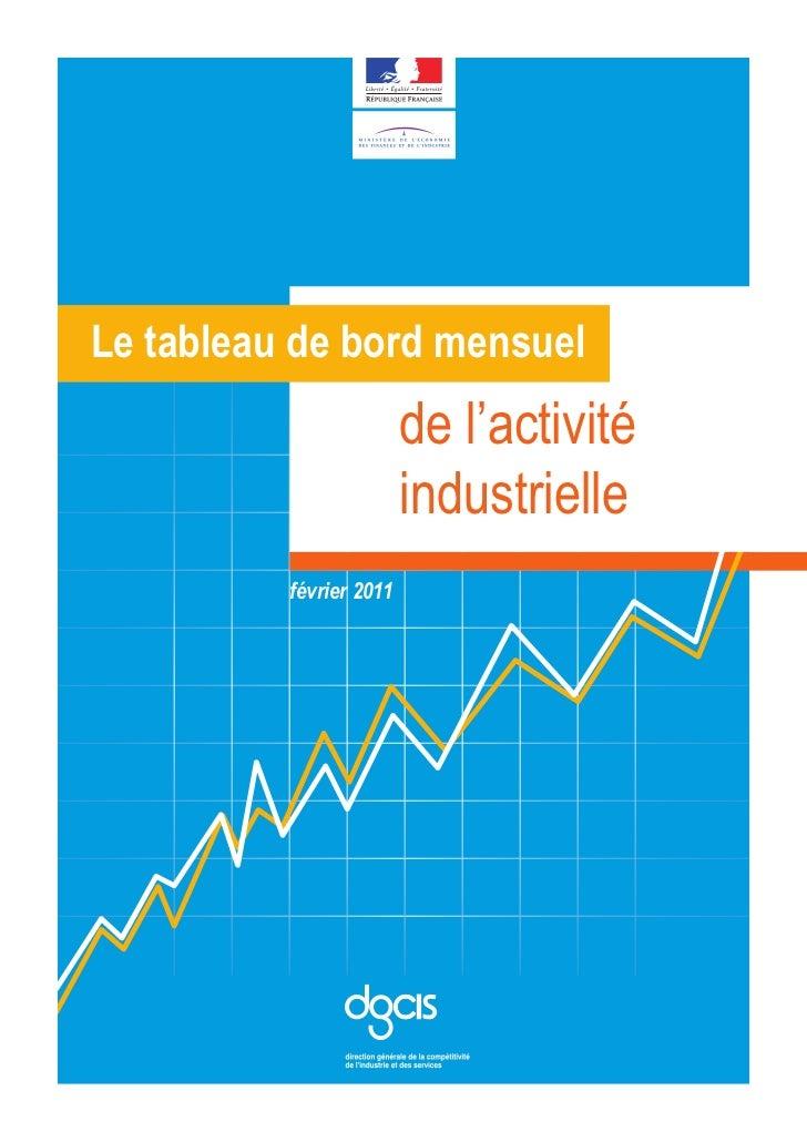 Le tableau de bord mensuel                         de l'activité                         industrielle          février 201...