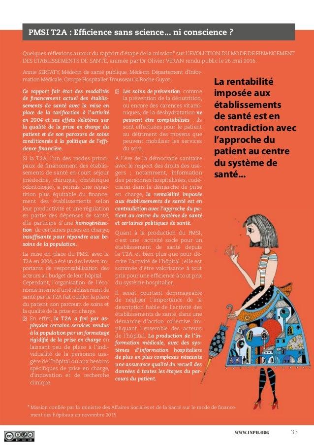 www.inph.org 33 Quelques réflexions autour du rapport d'étape de la mission* sur L'EVOLUTION DU MODE DE FINANCEMENT DES ET...