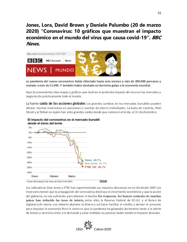 "31 CESS Colson 2020 Jones, Lora, David Brown y Daniele Palumbo (20 de marzo 2020) ""Coronavirus: 10 gráficos que muestran e..."