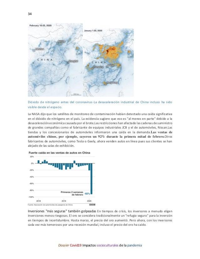 34 Dossier Covid19 Impactos socioculturales de la pandemia Dióxido de nitrógeno antes del coronavirus-La desaceleración in...