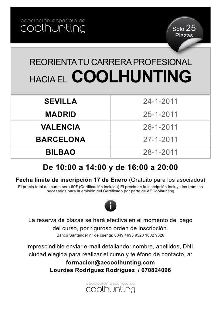Curso Oficial de La Asociación Española de Coolhunting
