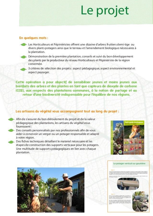 Dossier de candidature 2015 - Les vergers des Artisans du végétal