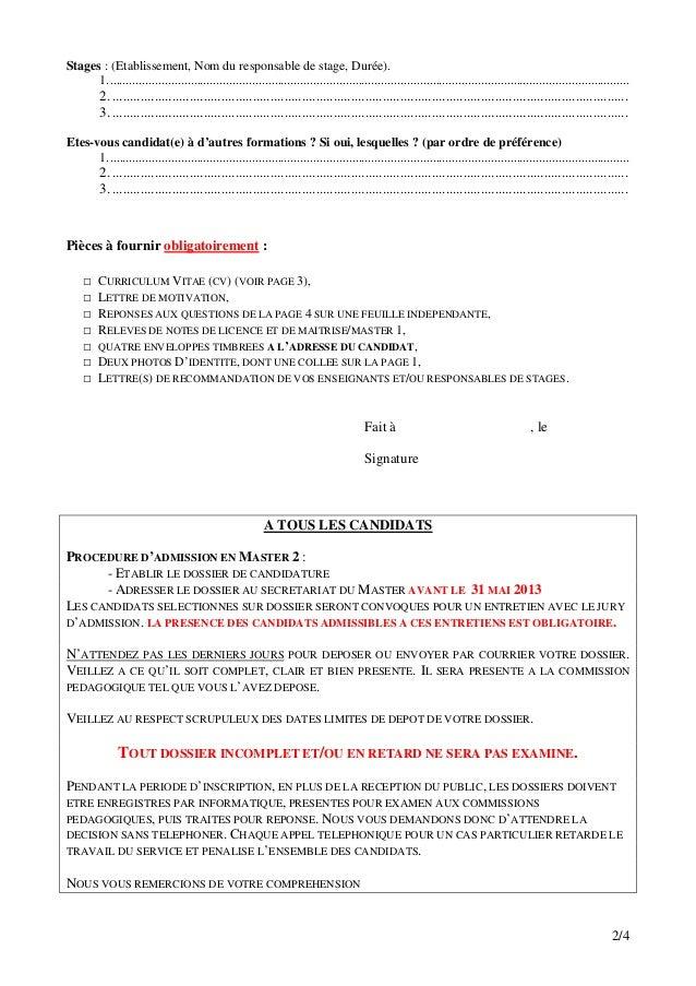 dossier de candidature moi initiale 2013 2014