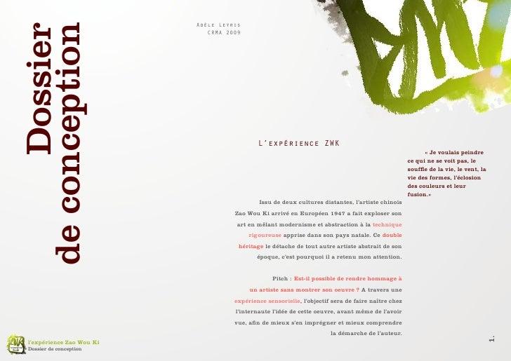 Adèle Leyris         Dossier de conception                                CRMA 2009                                       ...