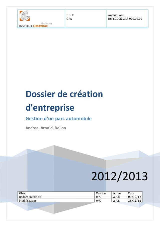 Dossier de creation entreprise for Salon creation entreprise