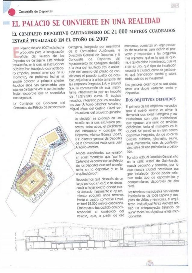 Dossier Deficiencias del Palacio de Deportes Cartagena